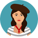 user, woman, french, Avatar, traditional, Culture, Cultures CadetBlue icon