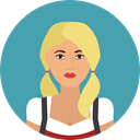 user, german, Avatar, traditional, Culture, Cultures CadetBlue icon