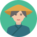 user, woman, Avatar, chinese, traditional, Culture, Cultures CadetBlue icon