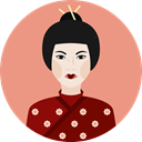 woman, Avatar, japanese, traditional, Culture, Cultures, user DarkSalmon icon
