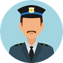 job, profession, Occupation, security, police, user, Avatar LightBlue icon