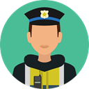 Avatar, job, profession, Occupation, security, police, user CadetBlue icon