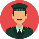 security, police, user, Avatar, job, profession, Occupation Tomato icon
