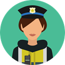 security, police, user, Avatar, job, profession, Occupation CadetBlue icon