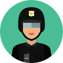 user, Avatar, job, profession, Occupation, security, police CadetBlue icon