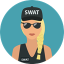 Swat, security, police, user, Avatar, job, profession, Occupation CadetBlue icon