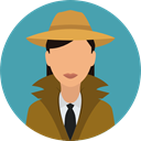 security, user, Occupation, detective, Avatar, job, profession CadetBlue icon
