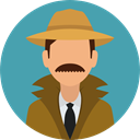security, user, detective, Avatar, job, profession, Occupation CadetBlue icon