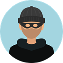security, user, Avatar, job, thief, profession, Burglar, criminal, robber, Occupation LightBlue icon