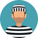 security, people, user, Imprisoned, Arrest, jail, Prisoner, criminal, Detention, Jailhouse CadetBlue icon