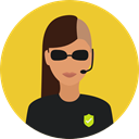 profession, Occupation, police, user, Avatar, job, security Goldenrod icon