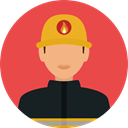 security, people, user, Avatar, job, firefighter, profession, Occupation Tomato icon