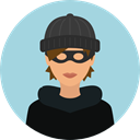 criminal, robber, Occupation, security, user, Avatar, job, thief, profession, Burglar LightBlue icon