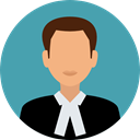 user, Avatar, job, law, judge, justice, profession, Occupation, Professions And Jobs CadetBlue icon