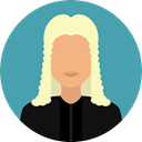 user, justice, profession, Occupation, Professions And Jobs, Avatar, job, law, judge CadetBlue icon