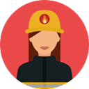 security, firefighter, profession, Occupation, people, user, Avatar, job Tomato icon