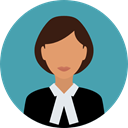 user, Avatar, profession, Occupation, Professions And Jobs, job, law, judge, justice CadetBlue icon