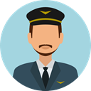 profession, Professions And Jobs, profile, Avatar, job, pilot, user LightBlue icon