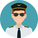 profession, Professions And Jobs, user, profile, Avatar, job, pilot CadetBlue icon