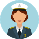 user, profile, Avatar, job, Captain, profession, Professions And Jobs LightBlue icon