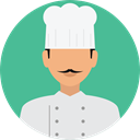 user, profile, Avatar, job, Chef, profession, Professions And Jobs CadetBlue icon