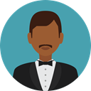 profession, Professions And Jobs, user, profile, Avatar, job, waiter CadetBlue icon