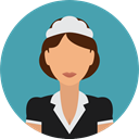 user, profile, Avatar, job, profession, Professions And Jobs, Cleaning Lady CadetBlue icon