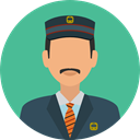 user, profile, Avatar, job, profession, Doorman, Professions And Jobs CadetBlue icon