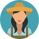 Farmer, profession, Professions And Jobs, user, profile, Avatar, job CadetBlue icon