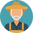 user, profile, Avatar, job, Farmer, profession, Professions And Jobs CadetBlue icon