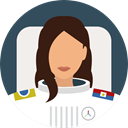 user, profile, Avatar, job, Astronaut, profession, Professions And Jobs DarkSlateGray icon