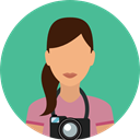 user, profile, Professions And Jobs, Avatar, job, Photographer, profession CadetBlue icon