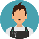 profession, Professions And Jobs, user, profile, Avatar, job, gardener CadetBlue icon