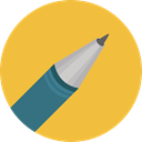pencil, Pen, miscellaneous, Files And Folders, writing, Tools And Utensils, School Material, Office Material SandyBrown icon