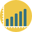 graph, Business, Stats, statistics, graphic, Bar chart, Business And Finance SandyBrown icon