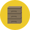 document, File, Archive, storage, Office Material, Filing Cabinet, Furniture And Household Goldenrod icon