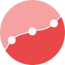 graph, Business, graphic, up arrow, Line Chart, Business And Finance Tomato icon