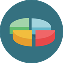 Business, Stats, statistics, marketing, Pie chart, finances, graphical, Files And Folders SeaGreen icon