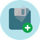 Multimedia, save, Floppy disk, interface, technology, electronics, Diskette, Save File, Flash Disk PowderBlue icon