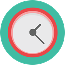 Clock, time, watch, tool, square, Tools And Utensils, Time And Date LightSeaGreen icon