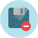 Diskette, Save File, Flash Disk, Files And Folders, Multimedia, save, Floppy disk, interface, technology PowderBlue icon