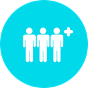 group, people, person, team, men, teamwork, Humanpictos DarkTurquoise icon
