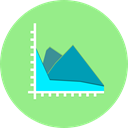 graphical, Profits, Seo And Web, statistics, marketing, finances, growth, Business, Stats, Diagram LightGreen icon