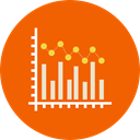 graphic, Bar chart, Seo And Web, graph, Business, Stats, statistics OrangeRed icon