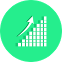 graphics, Arrow, Business, Stats, Analytics, Diagram, statistics, growth, Benefits, Seo And Web MediumSpringGreen icon