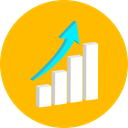 graph, Business, Stats, statistics, graphic, Bar chart, Business And Finance, Seo And Web Orange icon