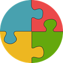 gaming, education, Puzzle, puzzle piece, Puzzle Pieces, Puzzle Game CadetBlue icon