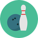 Game, sports, Bowling, Fun, leisure, Bowling Pins, Sports And Competition CadetBlue icon