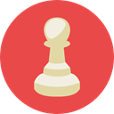 chess, strategy, gaming, sport, pawn, Sports And Competition Tomato icon