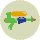 summer, childhood, vacations, Water Gun, gaming LightGray icon